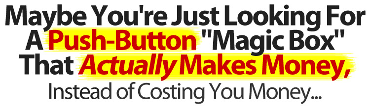 Maybe You're Just Looking For A Push-Button Magic Box That Actually Makes Money, Instead of Costing You Money